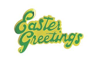 Easter Greetings Paper Motto, 55mm