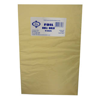 Confectionary Foil - Dull Gold 10 Pack