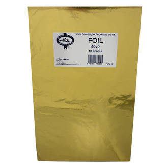 Confectionary Foil - Gold 10 Pack