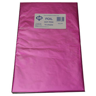 Confectionary Foil - Hot Pink 10 Pack