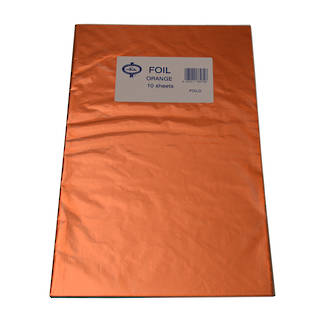 Confectionary Foil - Orange 10 Pack