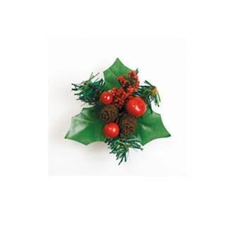 Deluxe Xmas Berry & Firone Holly (70mm)