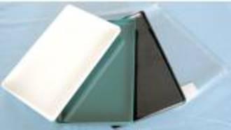 Black Plastic Sandwich Tray 275x175x20mm