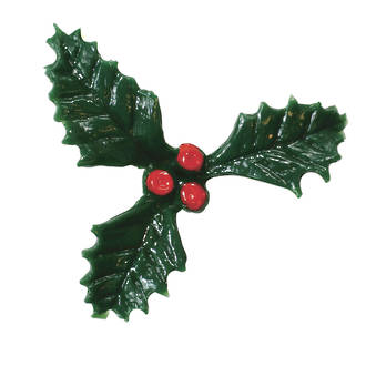 3 Leaf Holly 38mm