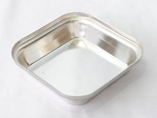 Single Pie Tin, Square 108x27mm Tin Plated