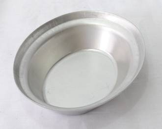 Single Aluminium Pie Tin, Oval 130x105x29mm