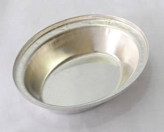 Single Pie Tin, Oval 130x105x29mm, Tin Plated