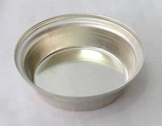 Single Pie Tin, Round 113x31.5mm, Tin Plated