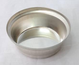 Single Round Pie Tin, Round 87x28mm, Tin Plated