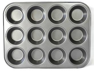 Regular Muffin Teflon Coated - Cup size: 70x50x35mm 12 Cup