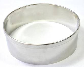 Stainless Steel Cake Rings 250x50mm deep, Stainless steel - made to order