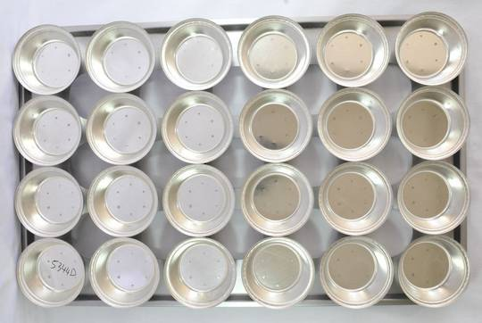 Palletized Pie Tins, (24) Round Very Deep Tins, 113x42mm, Tray size 720x460mm