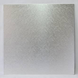 """Square 9"""" MDF Board, Silver"""