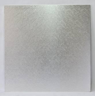 """Square 8"""" MDF Board, Silver"""