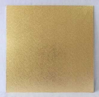 """Square 9"""" MDF Board, Gold"""