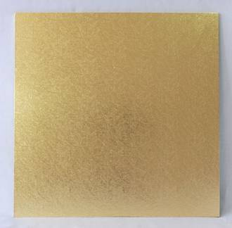 "Square 11"" MDF Board, Gold"