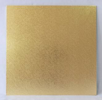 "Square 12"" MDF Board, Gold"