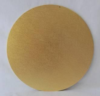 "Round 5"" MDF Board, Gold"