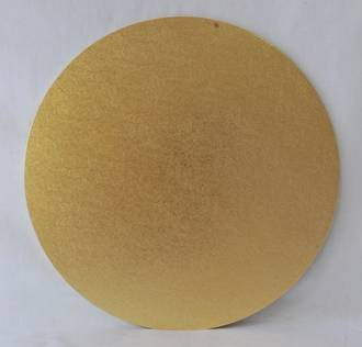 "Round 13"" MDF Board, Gold"
