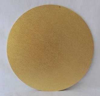 "Round 10"" MDF Board, Gold"
