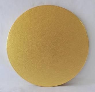 "Polystyrene Cake Board, Round, Gold Covered, 15"" (375mm)"