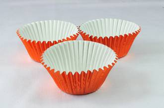 Foil Orange Baking Cups 50x35mm (500)