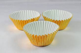 Foil Gold Paper Cups 30x21mm (500) - SOLD OUT