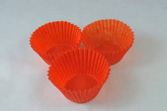 Glassine Burnt Orange Paper Cups  30x21mm (500)