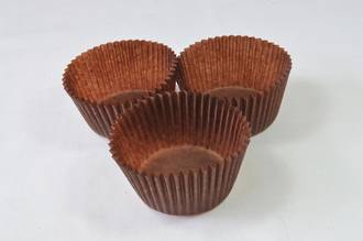 Mini muffin Paper Cases Brown 34x25mm (500)