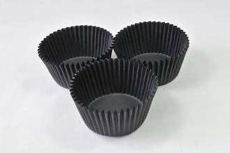 Cupcake Paper Cases Black 44x30mm height (500)