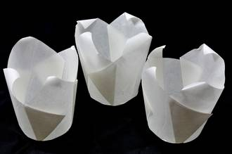 White Folded Cups 175x60mm (200) - SOLD OUT