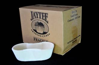 White Loaf Paper cases 150x70x50mm, Box of 500