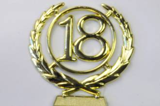 65mm 18 Numeral Wreath, Gold