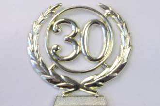 65mm 30 Numeral Wreath, Gold