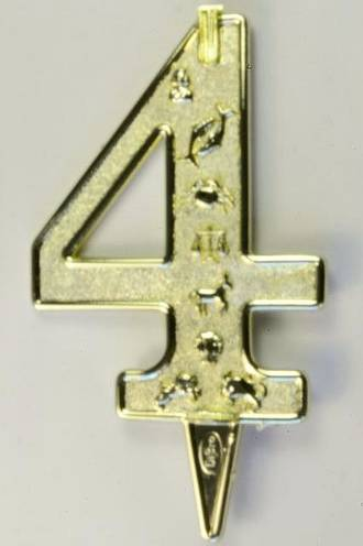 75mm Candle Holders, Number 4 Gold