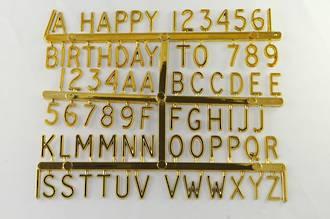 Letter & Numeral Set, gold
