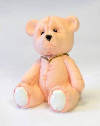 Pink Teddy Bear, 65mm (Polystone)