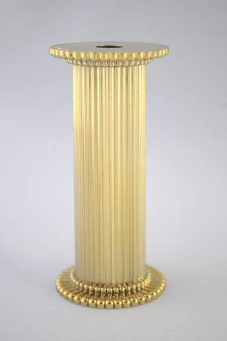 Round Fine Fluted Gold Pillar 75mm