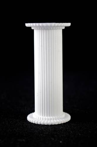 Round Fine Fluted White Pillar 75mm