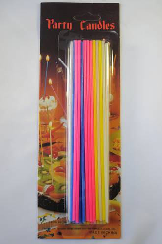 Candle Slim Multi Colours 17cm (24)