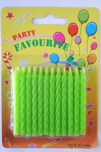 Candle Twist Green (24)