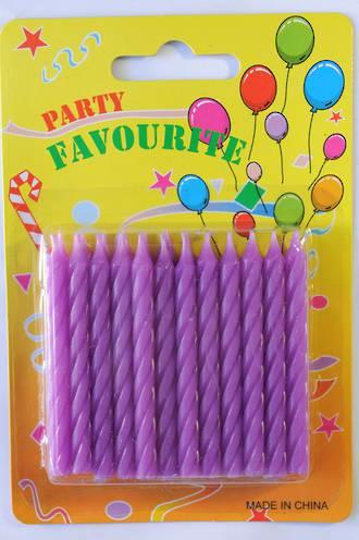 Candle Twist Purple (24)