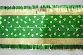 Star Pattern Band 7m x 76mm wide  Gold on Green