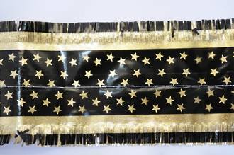 Star Pattern Band 7m x 76mm wide  Gold on Black