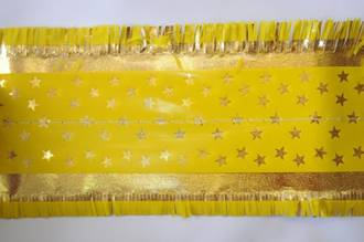 Star Pattern Band 76mm wide  Gold on Yellow, 1 Metre