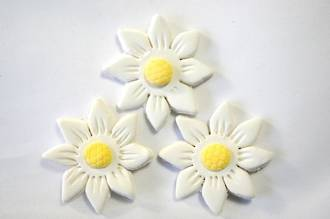 Icing White Daisy, 35mm.  Box of 120 - SOLD OUT