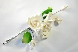 Icing Tea Rose Spray, Ivory 120mm, (Box of 3)