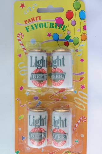 Candle Beer Cans (4)