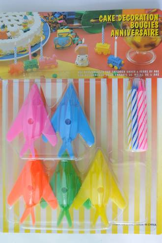 Candle Set & Holders Fighter Planes (5)