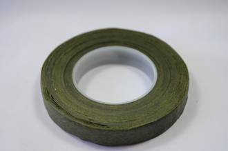 Avocado Green waxed paper, 12mm wide floral tape
